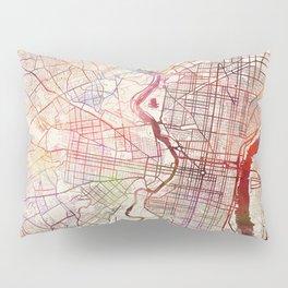 Philadelphia map Pillow Sham