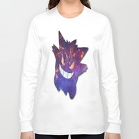 gengar Long Sleeve T-shirts featuring Galaxy Gengar by Visual Declaration