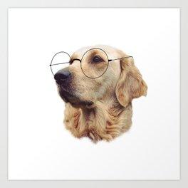 Nerd Doggo Art Print