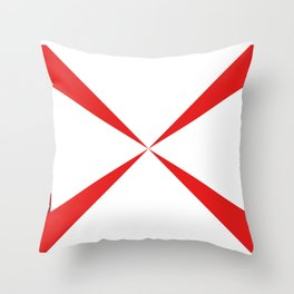 Simple Construction Red Throw Pillow
