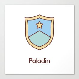 Cute Dungeons and Dragons Paladin class Canvas Print