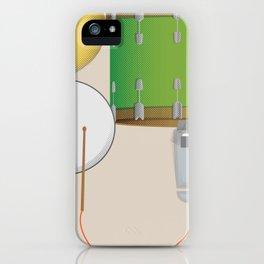 Drum Set Print iPhone Case
