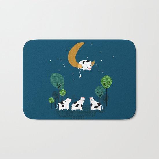 A cow jump over the moon Bath Mat