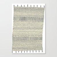 rug Canvas Prints featuring Rug by Rebecca Zablocki