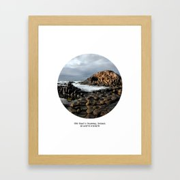 004: Giant's Causeway, Ireland. Framed Art Print