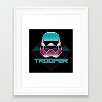 trooper Framed Art Prints featuring TROOPER by MEKAZOO