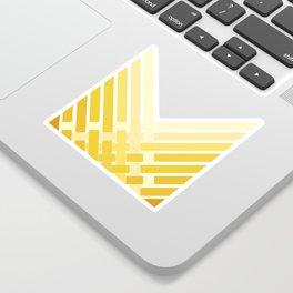 Yellow Ombre Stripes Sticker