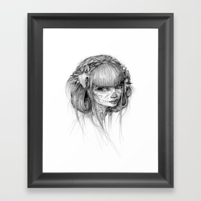 muertos Framed Art Print