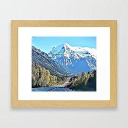 Mountain Road Landscape Airbrush Artwork Framed Art Print
