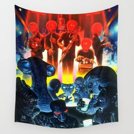 Space Alien Bar Band Wall Tapestry