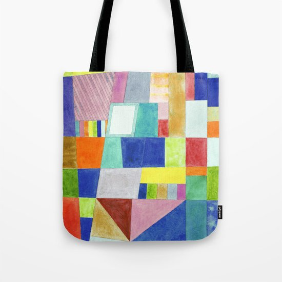 Colorful Abstract with Slantings and Windows Tote Bag