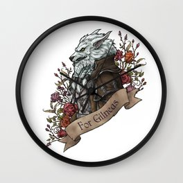 Old Wolf Wall Clock