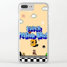 Super Mario Bros. 3 Title Screen Clear iPhone Case