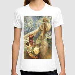 "Alphonse Mucha ""Madonna of the liles"" T-shirt"