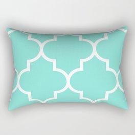Turquoise Quatrefoil Rectangular Pillow