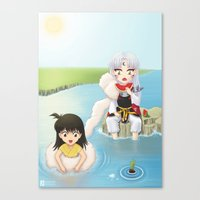 inuyasha Canvas Prints featuring Inuyasha:  Summer by Kerstie Milana