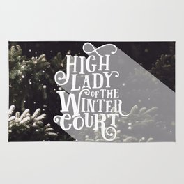 High Lady Winter Court - Snowing Rug