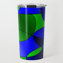 ABSTRACT CURVES #1 (Blues & Greens) Travel Mug