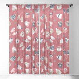 Winter Time - Stay Warm Sheer Curtain