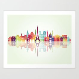 Heart Paris ! Art Print