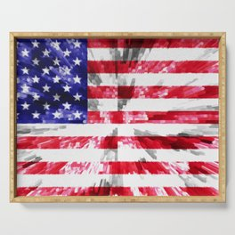 American Flag Extrude Serving Tray