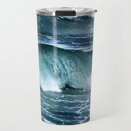 Deep Blue Waves Travel Mug
