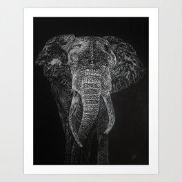 The Elephant Shakes the Earth Art Print
