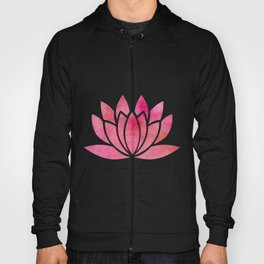 Zen Watercolor Lotus Flower Yoga Symbol Hoody