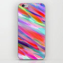 Colorful digital art splashing G399 iPhone Skin