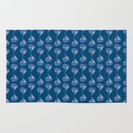Sailboat Pattern Rug