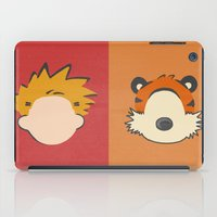 hobbes iPad Cases featuring A boy and his tiger by Raquel Segal