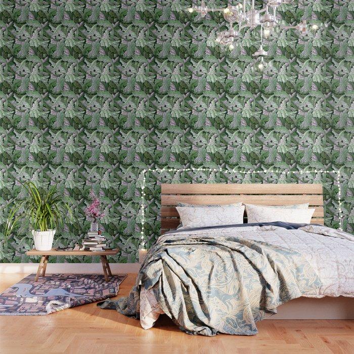 Art Nouveau William Morris Green Acanthus Leaves Wallpaper By Designandart Society6