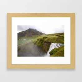 Iceland green Framed Art Print