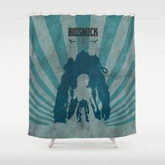 Bioshock 2 - Delta and Eleanor Shower Curtain