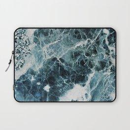 Blue Sea Marble Laptop Sleeve