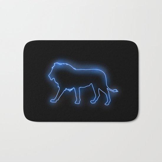 Blue Lion (Neon) Bath Mat