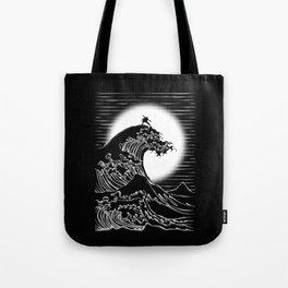Waterbending (Black) Tote Bag