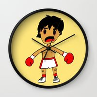 rocky Wall Clocks featuring ROCKY by Christophe Chiozzi