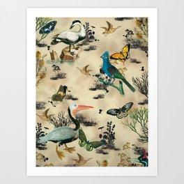 Old Vintage animals n2 print Art Print