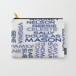 Mason Family - Blue Font Carry-All Pouch