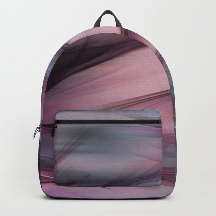 Soft Hazy Mauve Abstract Backpack