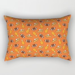 Thanksgiving and Football Pattern Rectangular Pillow