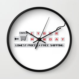 Cyber Monday Lowest Prices Plus Free Shipping Wall Clock