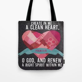 Psalm 51 Tote Bag