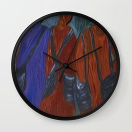 In Line For  A Blessing  (The Procession) Wall Clock