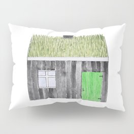 Traditional Faroese House Pillow Sham