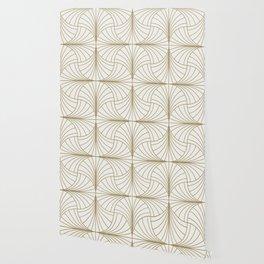 Diamond Series Inter Wave Gold on White Wallpaper