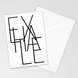 Inhale exhale (2 of 2) Stationery Cards
