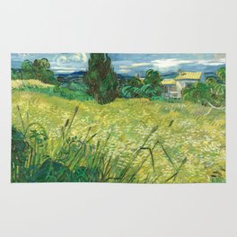 Green Field by Vincent van Gogh Rug