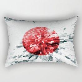Japanese Flag Extrude Rectangular Pillow